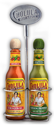 Original and Green Pepper Hot Sauce Variety Pack w/ Two Bottle Caddy