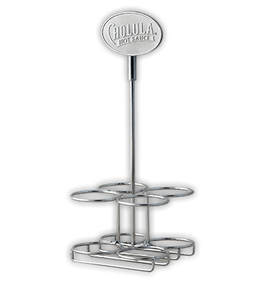 Cholula 5 oz. 4-Bottle Metal Caddy