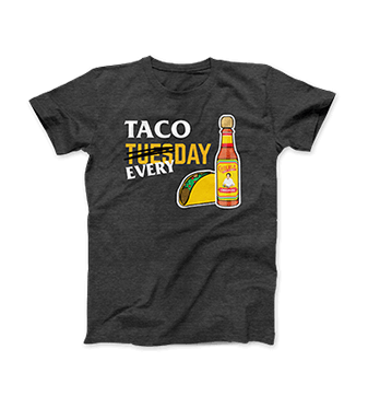 Cholula Tacos Everyday T-Shirt [chs-tacot.jpg] - Click for More Information