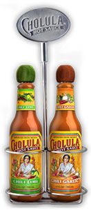 Chili Lime and Chili Garlic Hot Sauce Variety Pack w/ Two Bottle Caddy [chs-vpclcgc.jpg] - Click for More Information