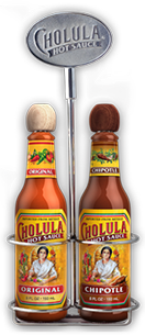 Original and Chipotle Hot Sauce Variety Pack w/ Two Bottle Caddy [chs-vpocc.jpg] - Click for More Information